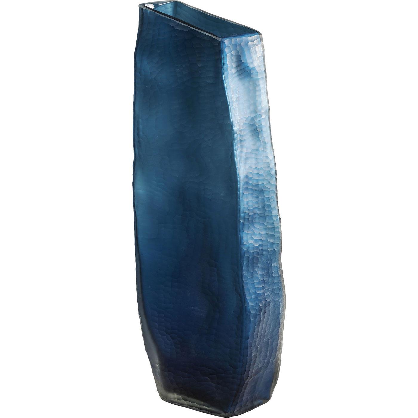 kare design – Kare design bieco blue vase - blåt glas, håndlavet, 61 cm på boboonline.dk