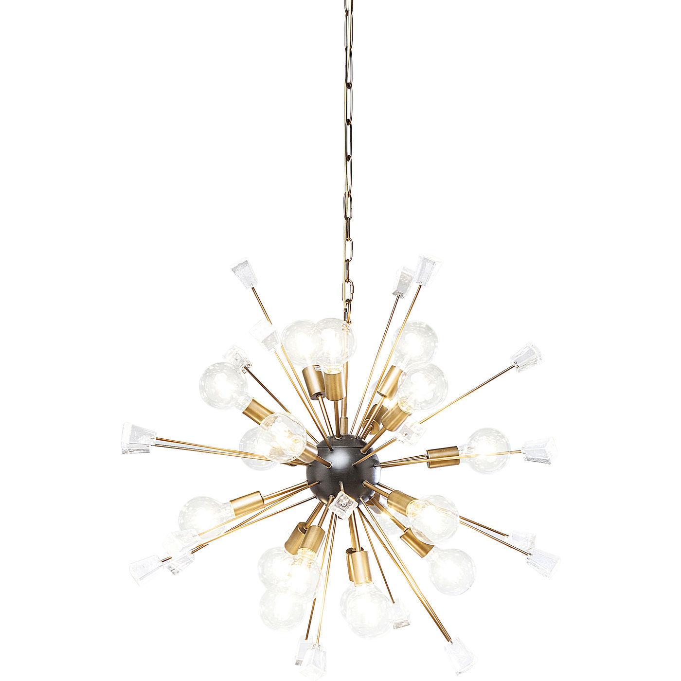 KARE DESIGN Loftslampe, Crystal Bomb Brass