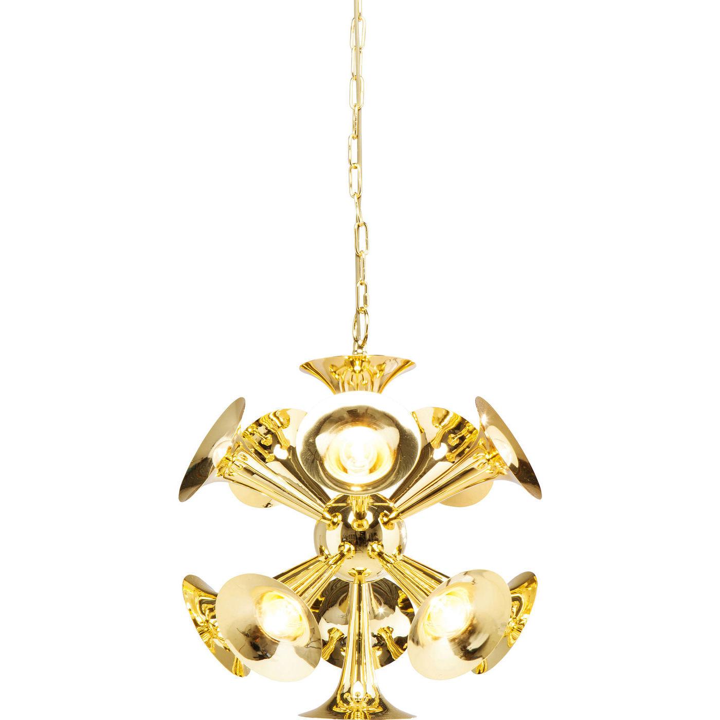 Billede af Kare Design Loftslampe, Trumpets Brass