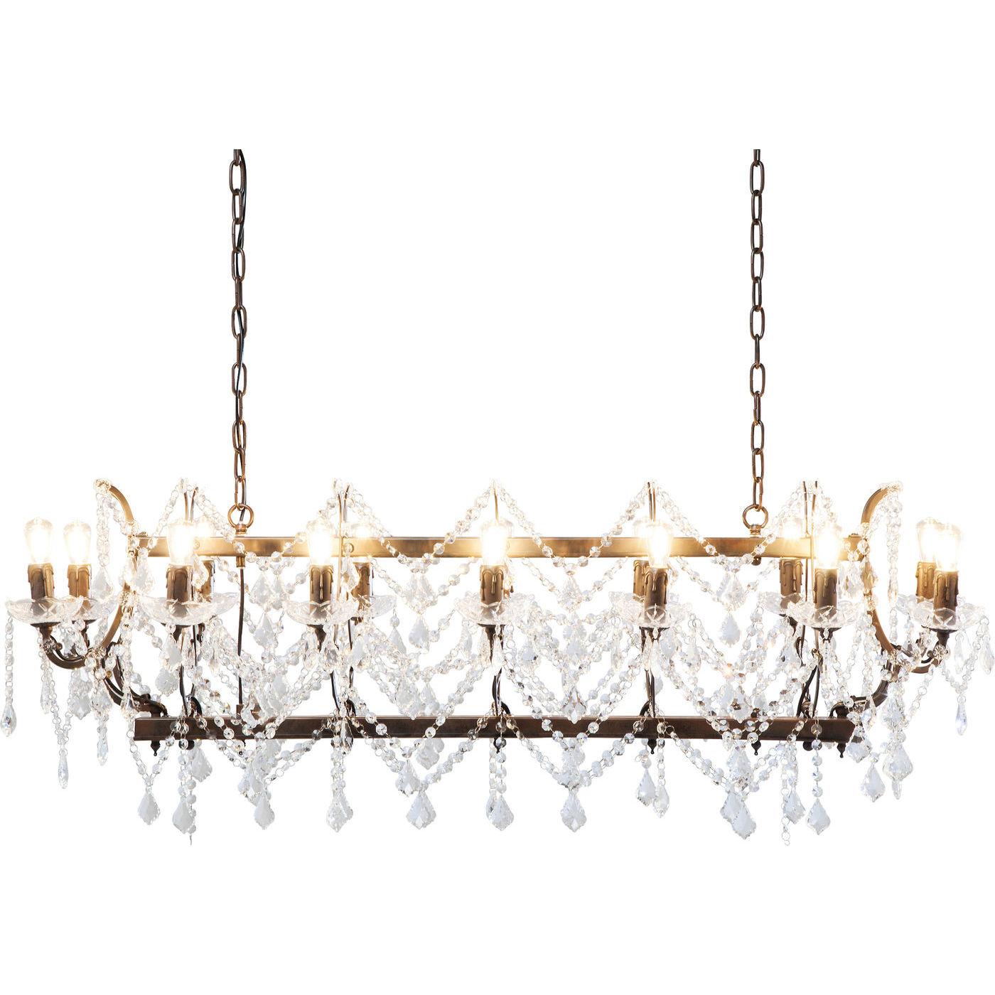 kare design Kare design chateau crystal rusty loftlampe - brunt stål og glas på boboonline.dk