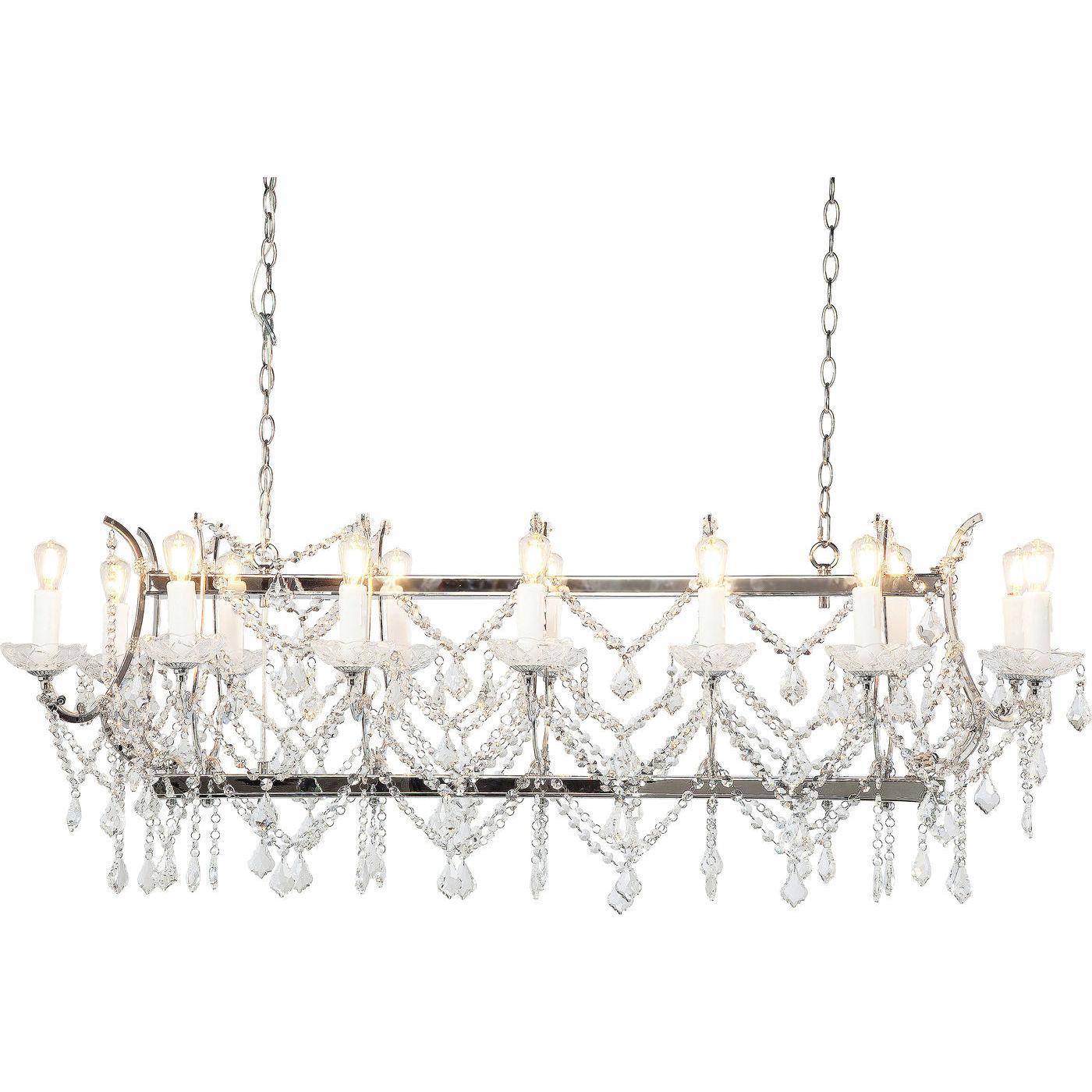 Kare design chateau crystal chrome loftlampe - stål og glas