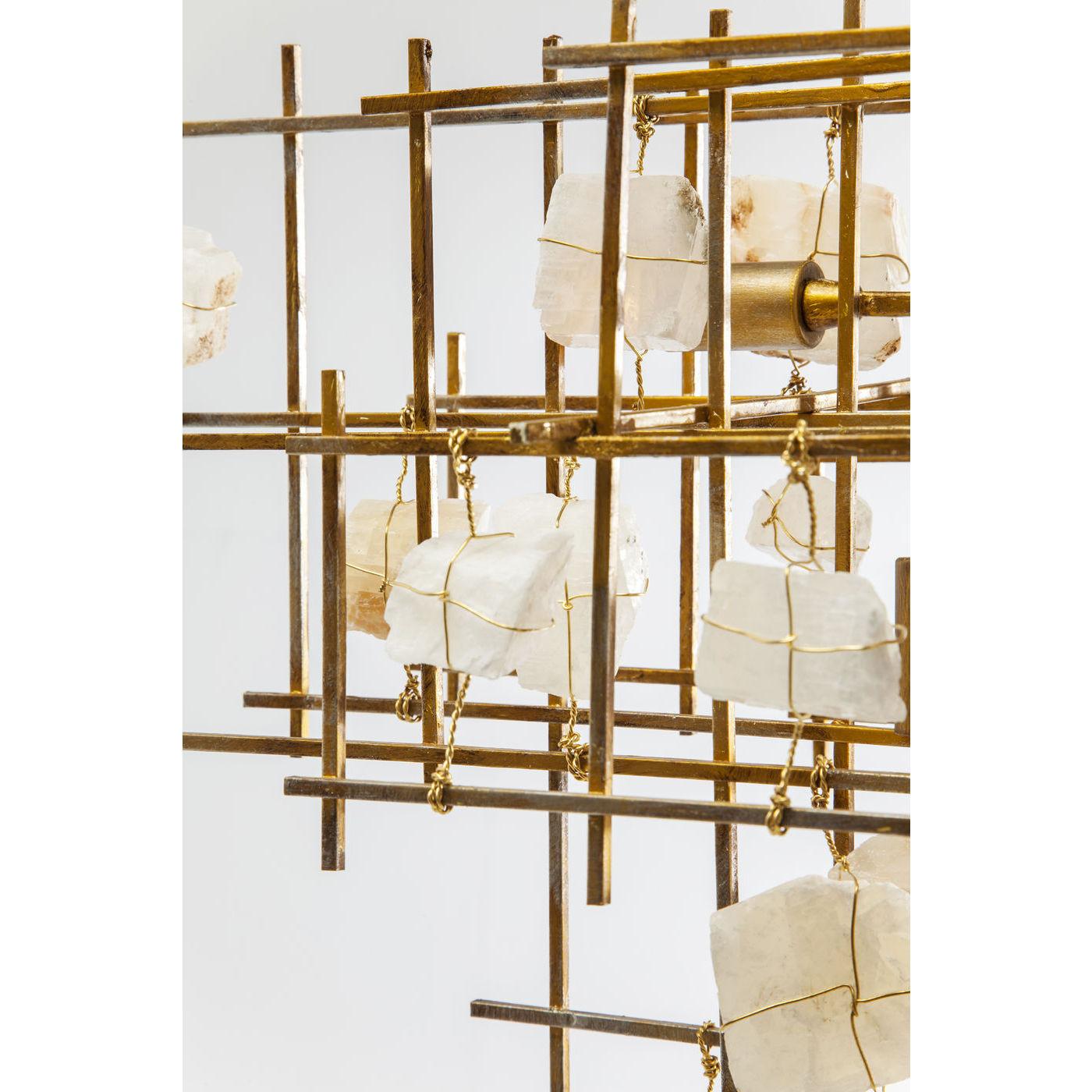 KARE DESIGN Stone Mobile loftlampe - guld stål og hvide sten