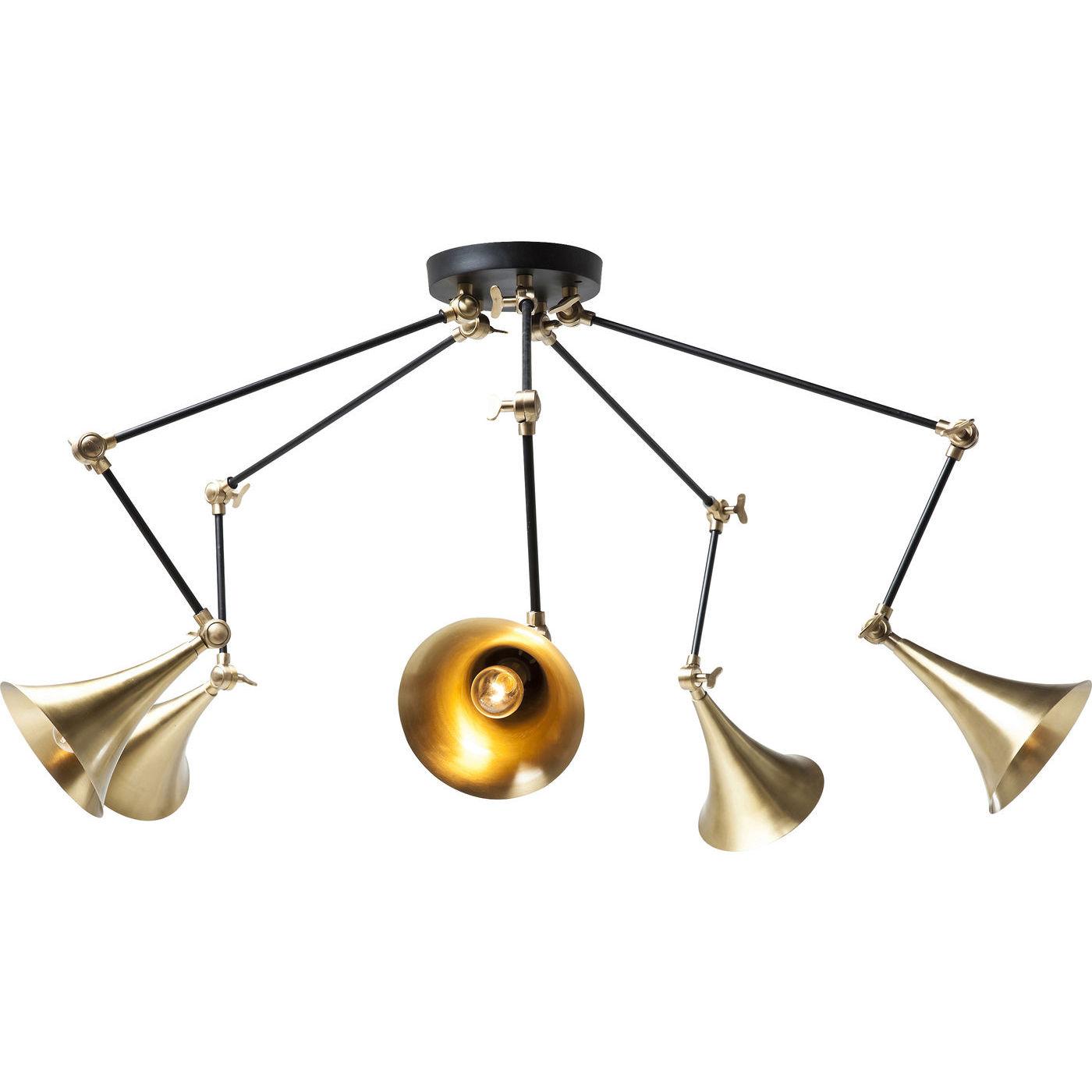 kare design Kare design trumpet brass spider 5-lite loftlampe - messing aluminium fra boboonline.dk