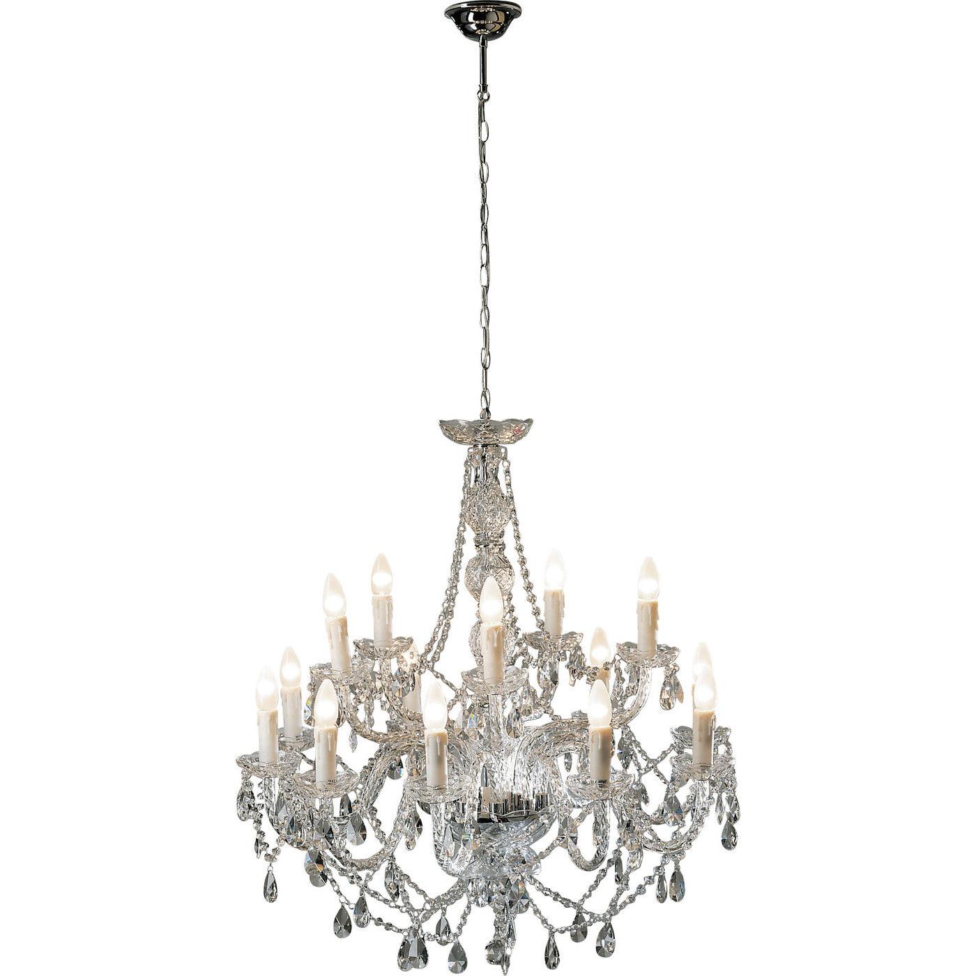 Billede af Kare Design Loftslampe, Gioiello Crystal Clear