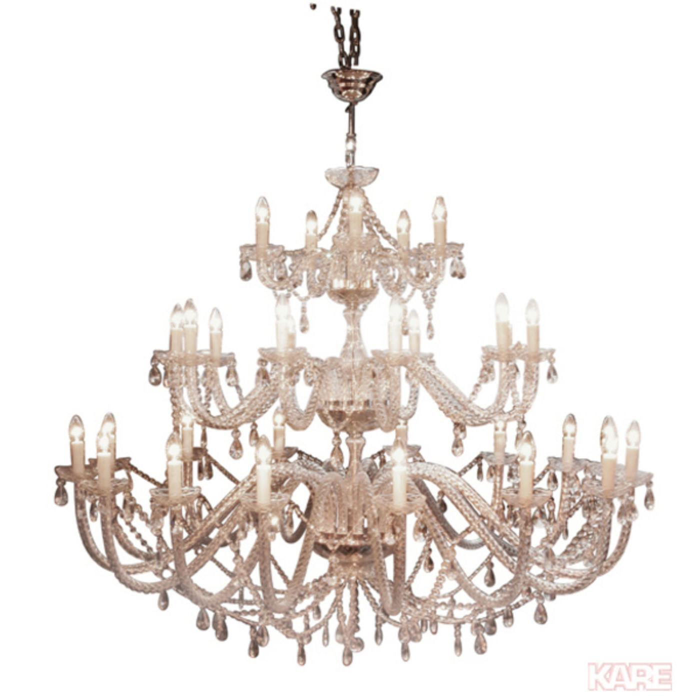 Billede af Kare Design Loftslampe, Gioiello Feudal Clear