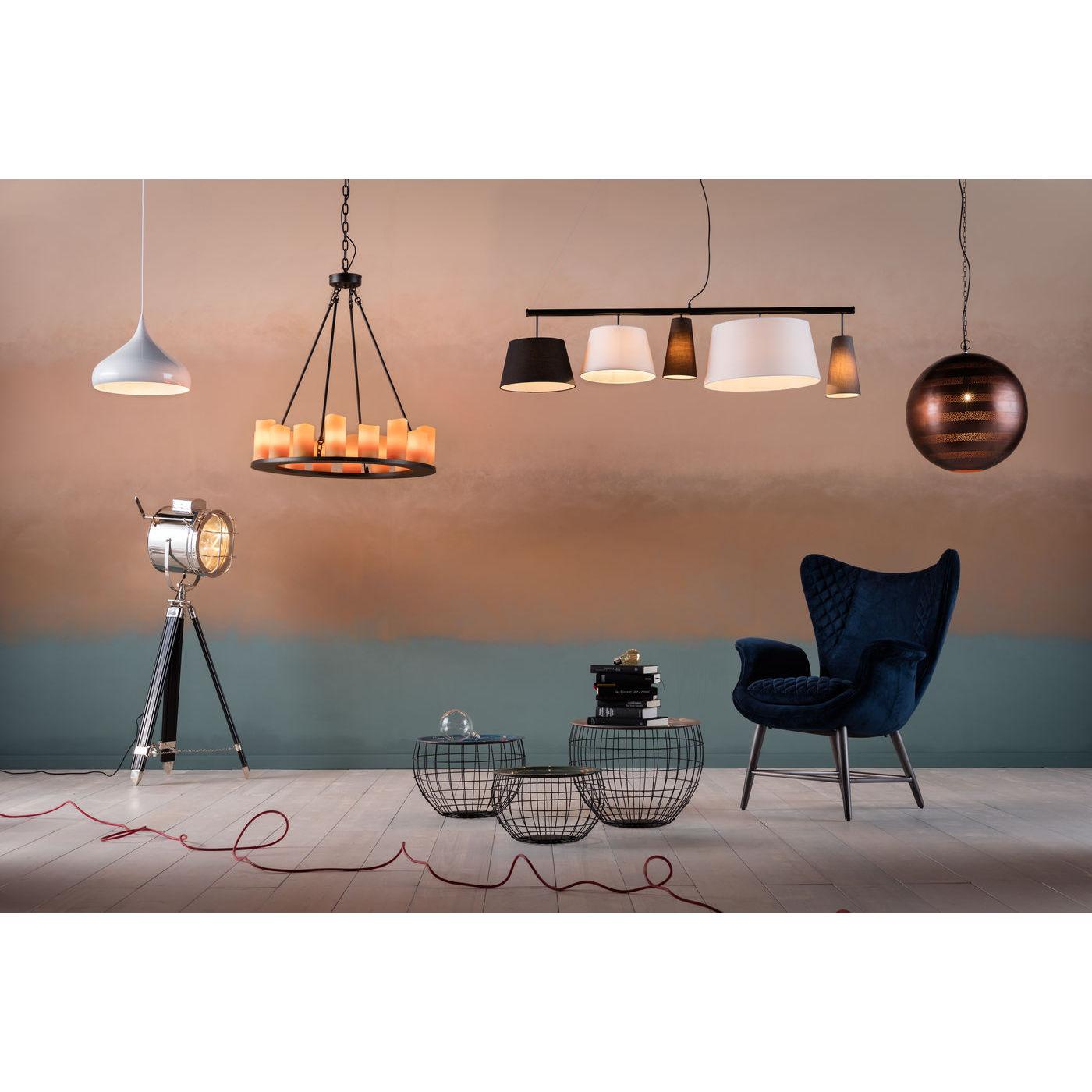 loftslampe candle light round ligner stearinlys praktisk. Black Bedroom Furniture Sets. Home Design Ideas