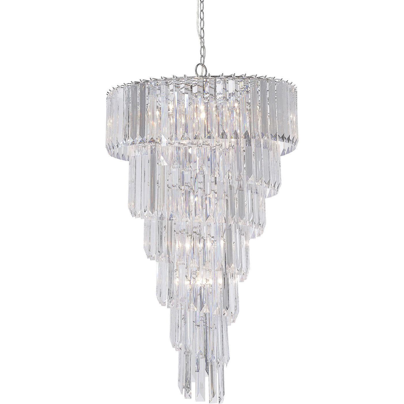 loftslampe bergkristall 13 lite krystalst nger lakeret. Black Bedroom Furniture Sets. Home Design Ideas