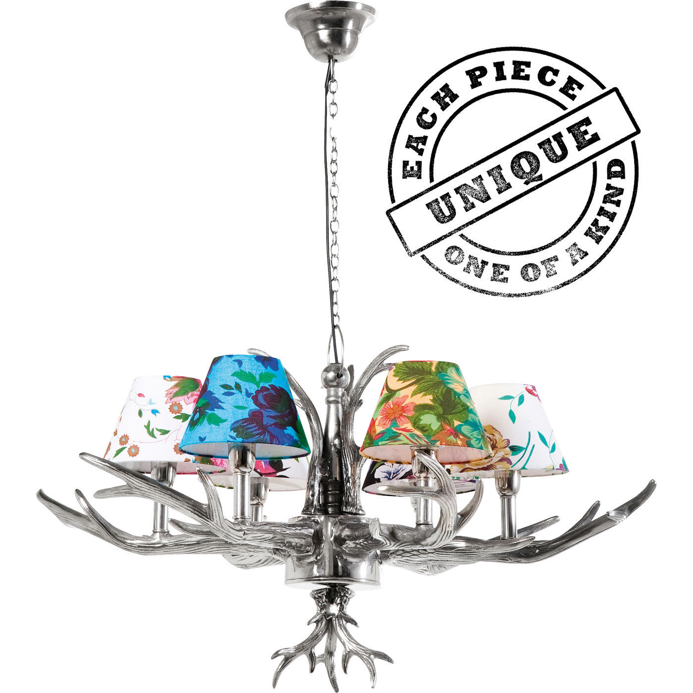 loftslampe antler flowers 6 forskellige m nstrede sk rme. Black Bedroom Furniture Sets. Home Design Ideas
