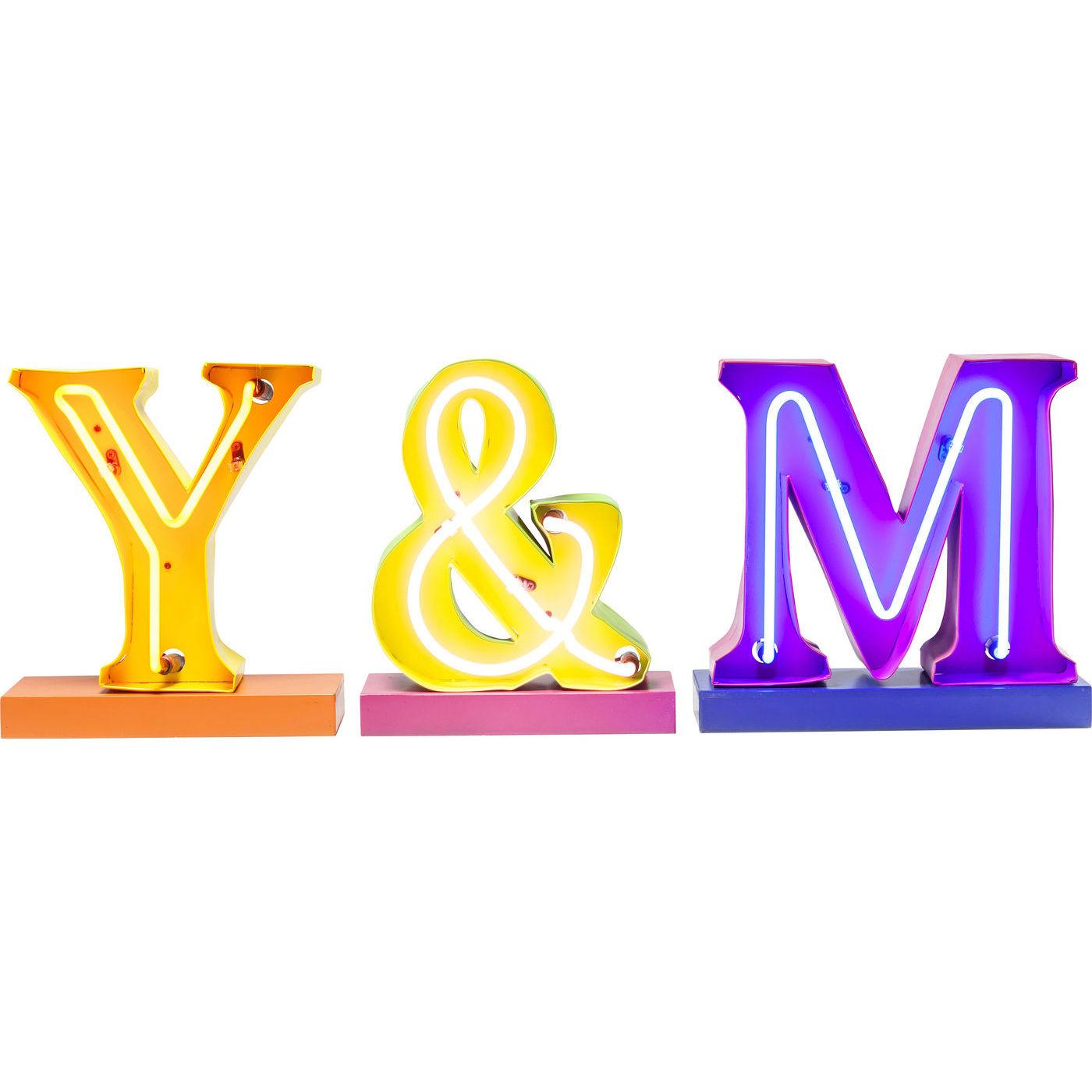 Image of   KARE DESIGN Light Y and M Neon (3/Set) lysskilt - multifarvet stål/plastik/neon