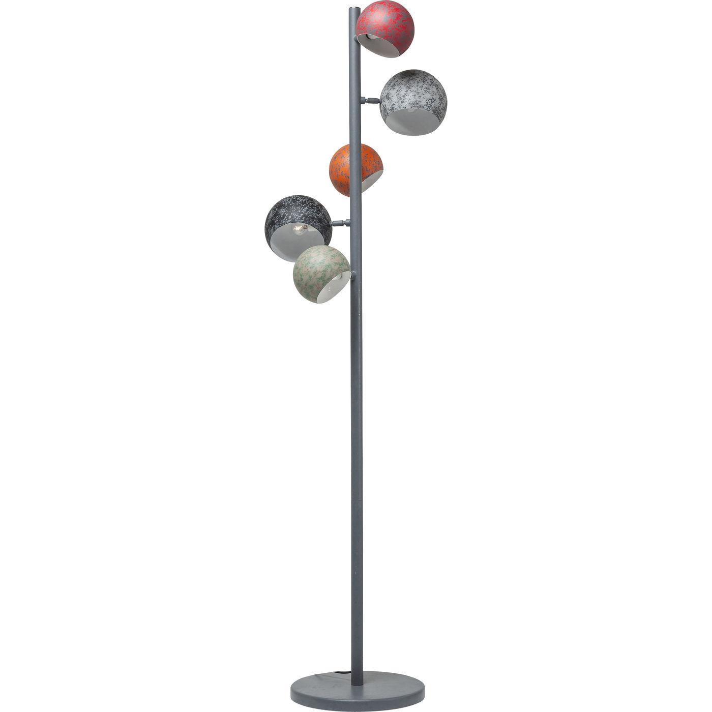 kare design Kare design calotta antico 5-lite gulvlampe - multifarvet stål fra boboonline.dk