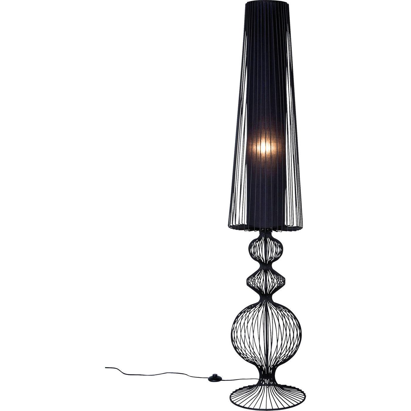 kare design Kare design swing iron uno gulvlampe - sort stål/plastik/træ fra boboonline.dk