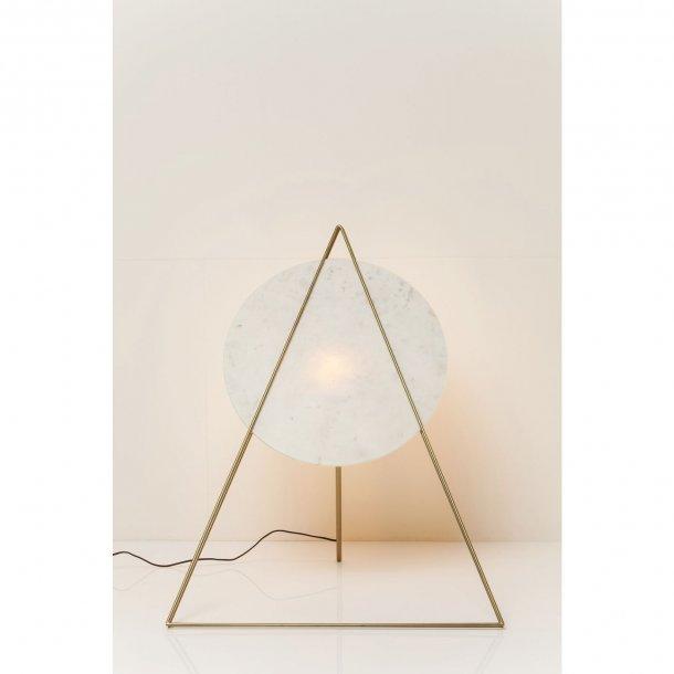 KARE DESIGN Triangle Marble White gulvlampe - hvid marmor/guld stål