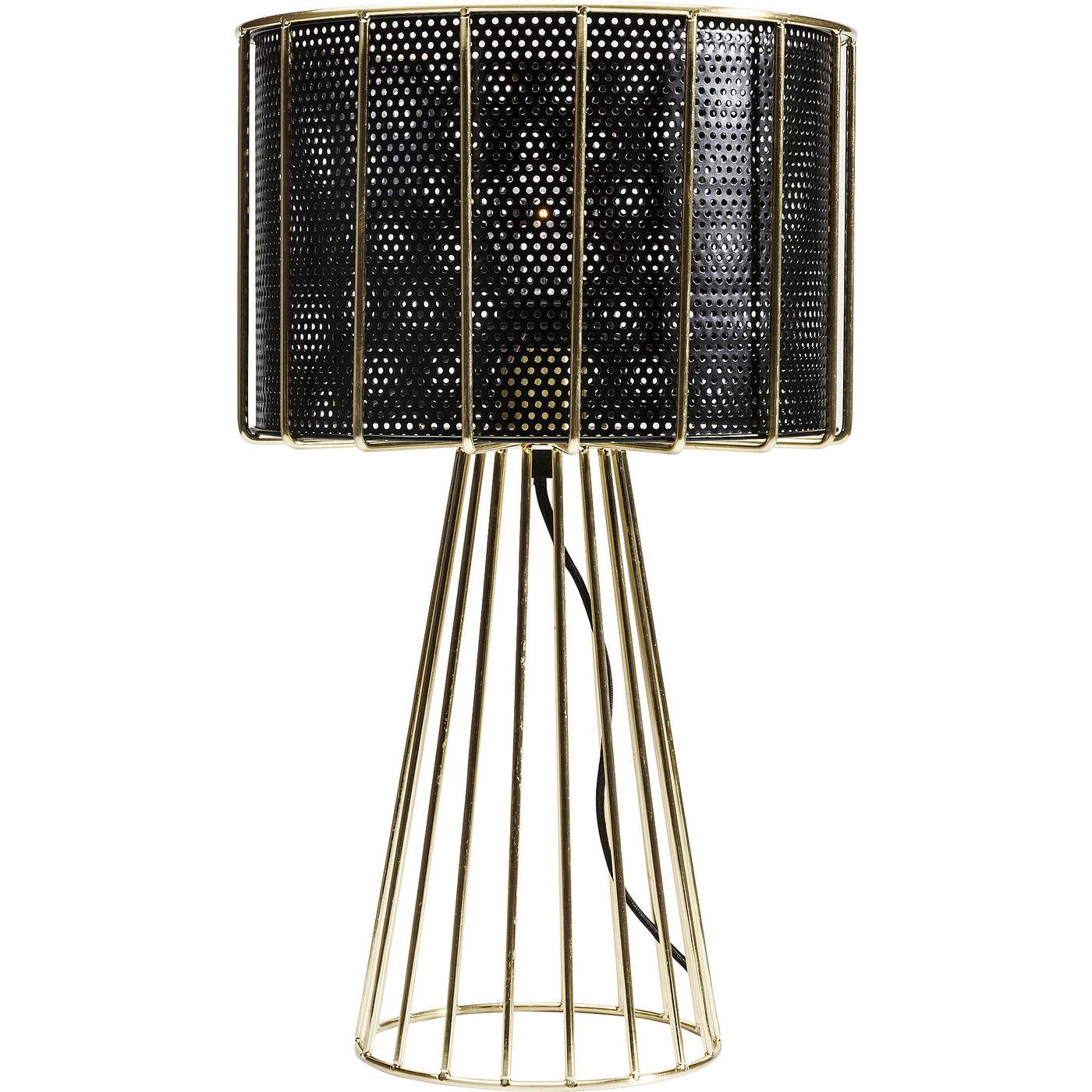 Kare design wire bowl bordlampe - guld/sort stål fra kare design på boboonline.dk