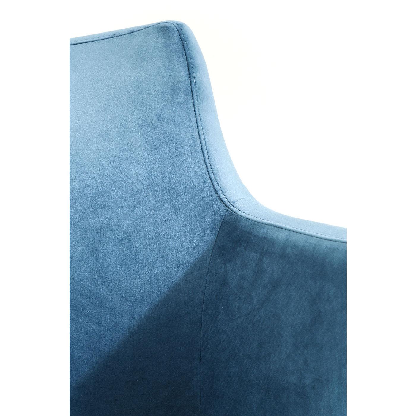 Image of   Kare Design Spisebordsstol m. armlæn, Mode Velvet Petrol