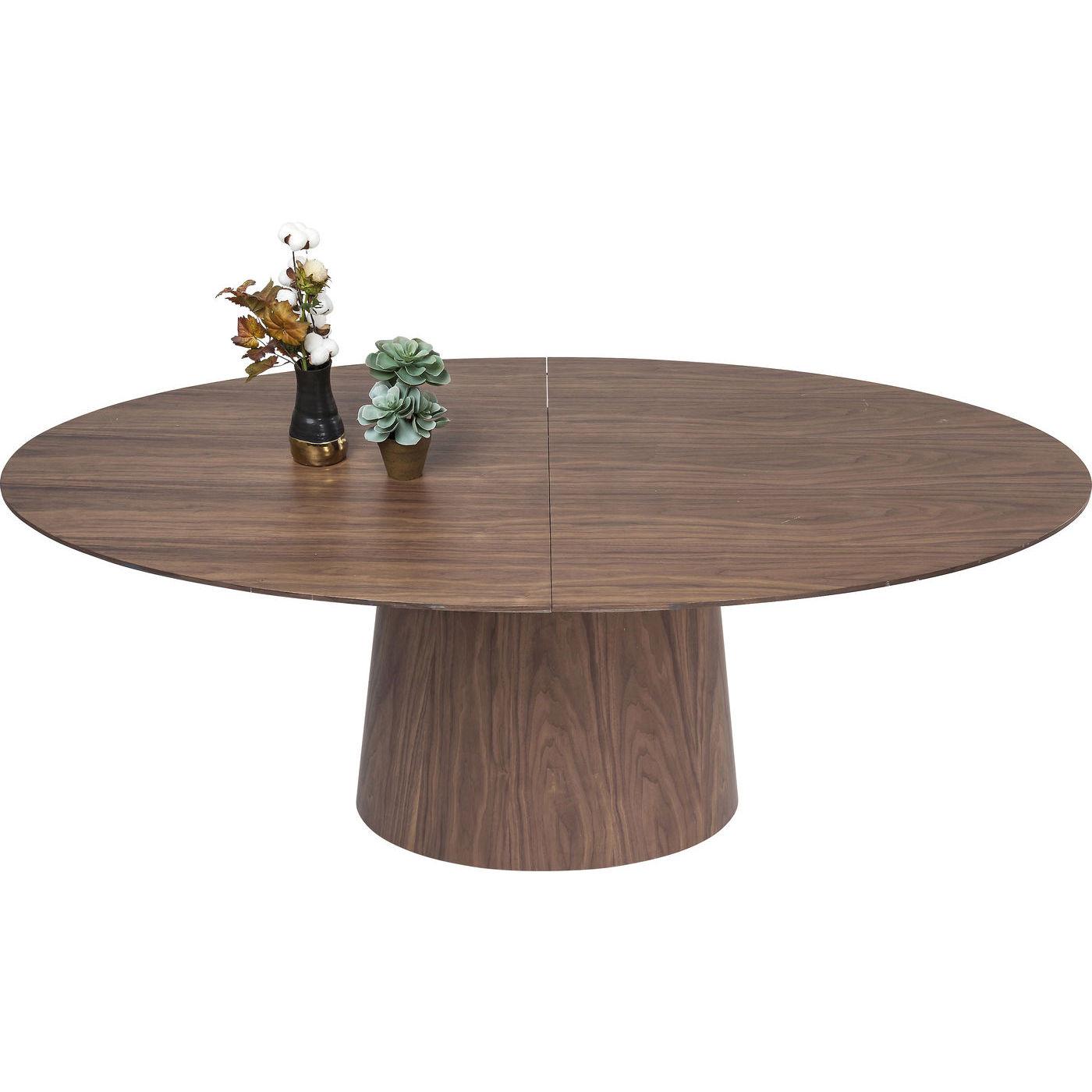 Image of   KARE DESIGN Extension Benvenuto spisebord - valnøddefinér m. butterflyplade