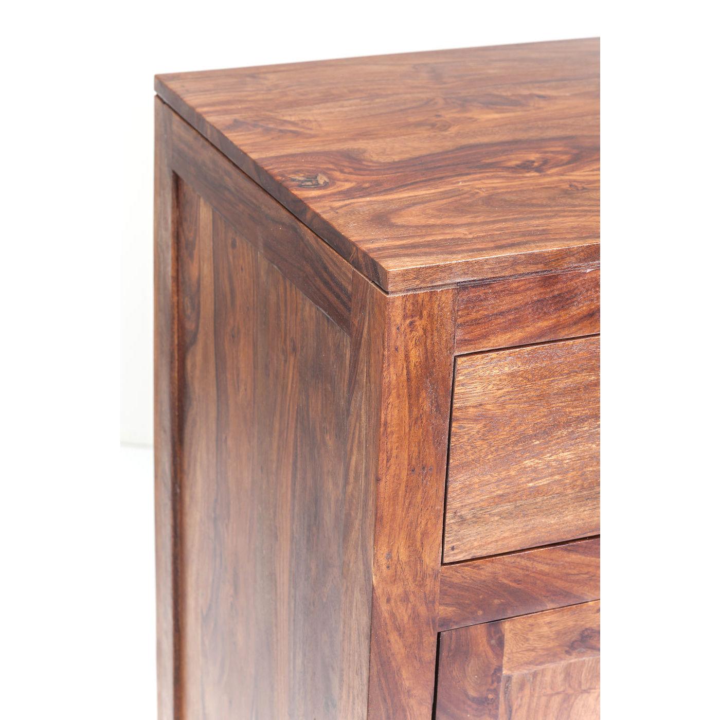 authentico kommode i tr med 2 lger og 2 skuffer fine greb. Black Bedroom Furniture Sets. Home Design Ideas