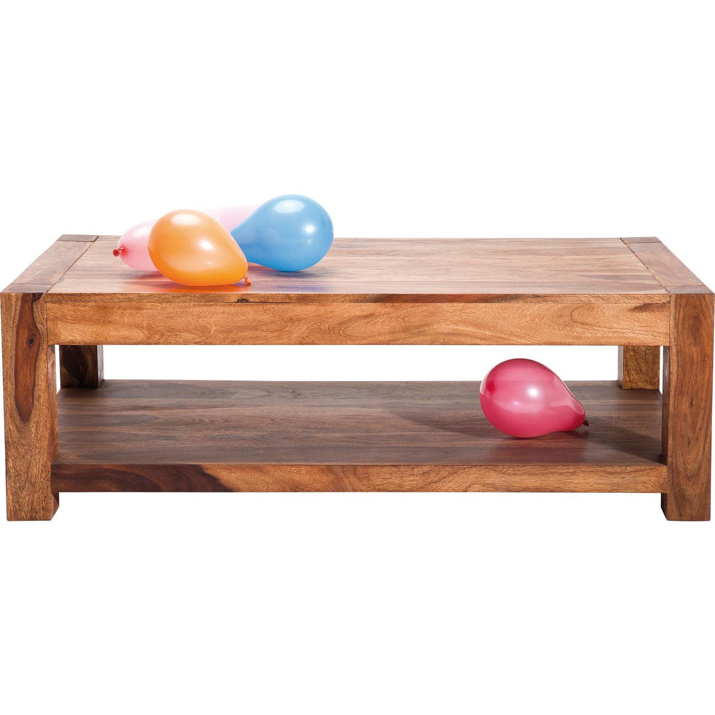 Kare design authentico sofabord - natur sheeshamtræ, m. 1 hylde (120x60) fra kare design fra boboonline.dk