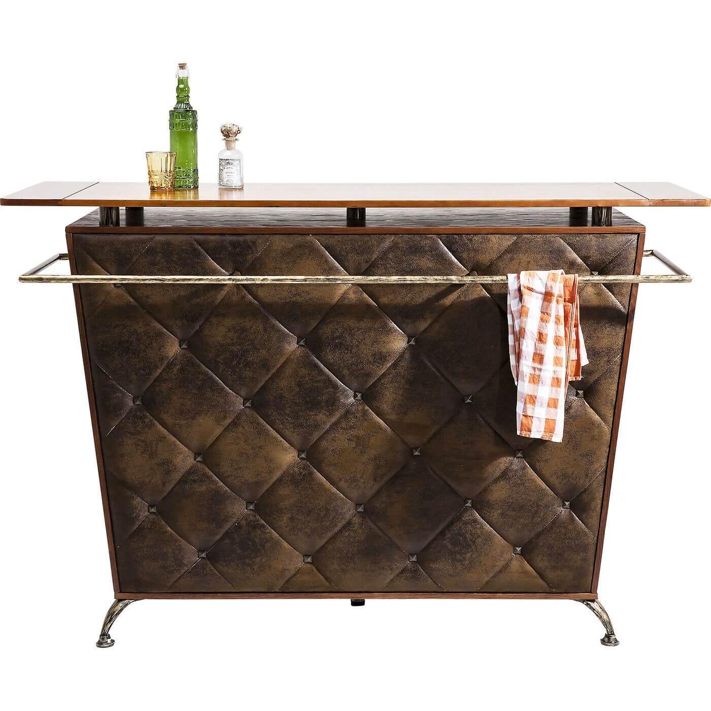 kare design – Kare design lady rock deluxe vintage barskab - brunt polyester/natur birk og stål fra boboonline.dk