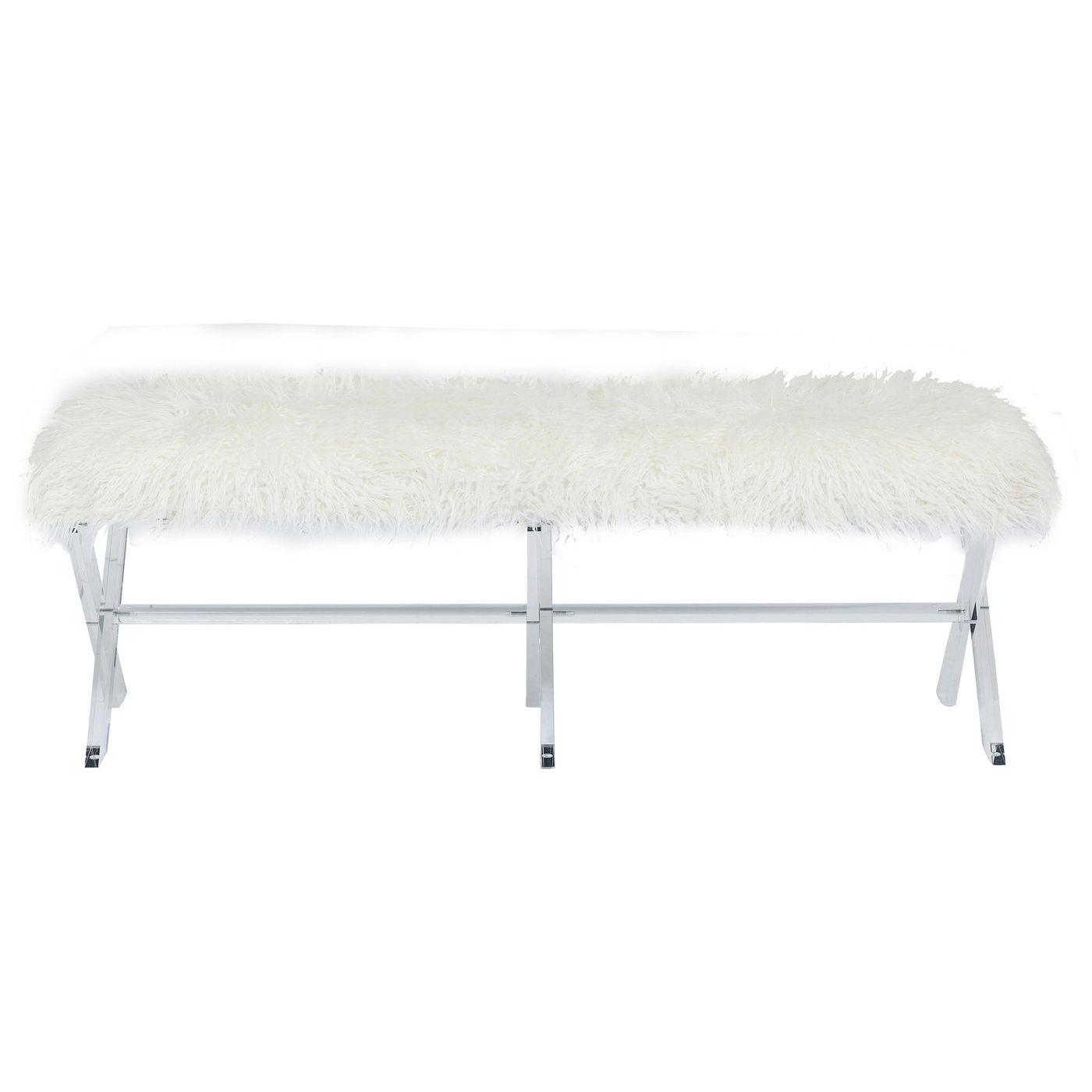 Kare design visible fur white bænk - hvidt polyester/akryl fra kare design fra boboonline.dk