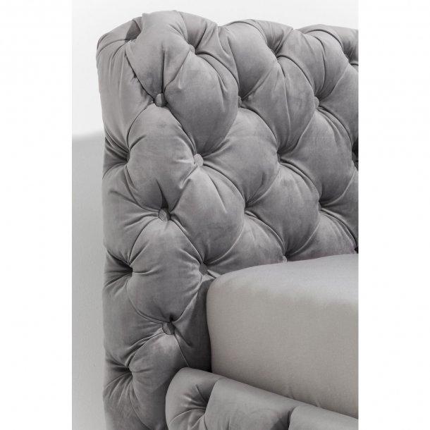 Kare Design sengeramme, Desire Silver Grey 180x200 cm