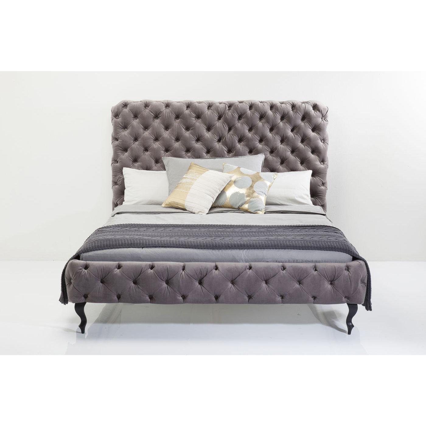 Kare design desire silver grey high sengeramme - grå polyester/massiv bøg (180x200) fra kare design fra boboonline.dk