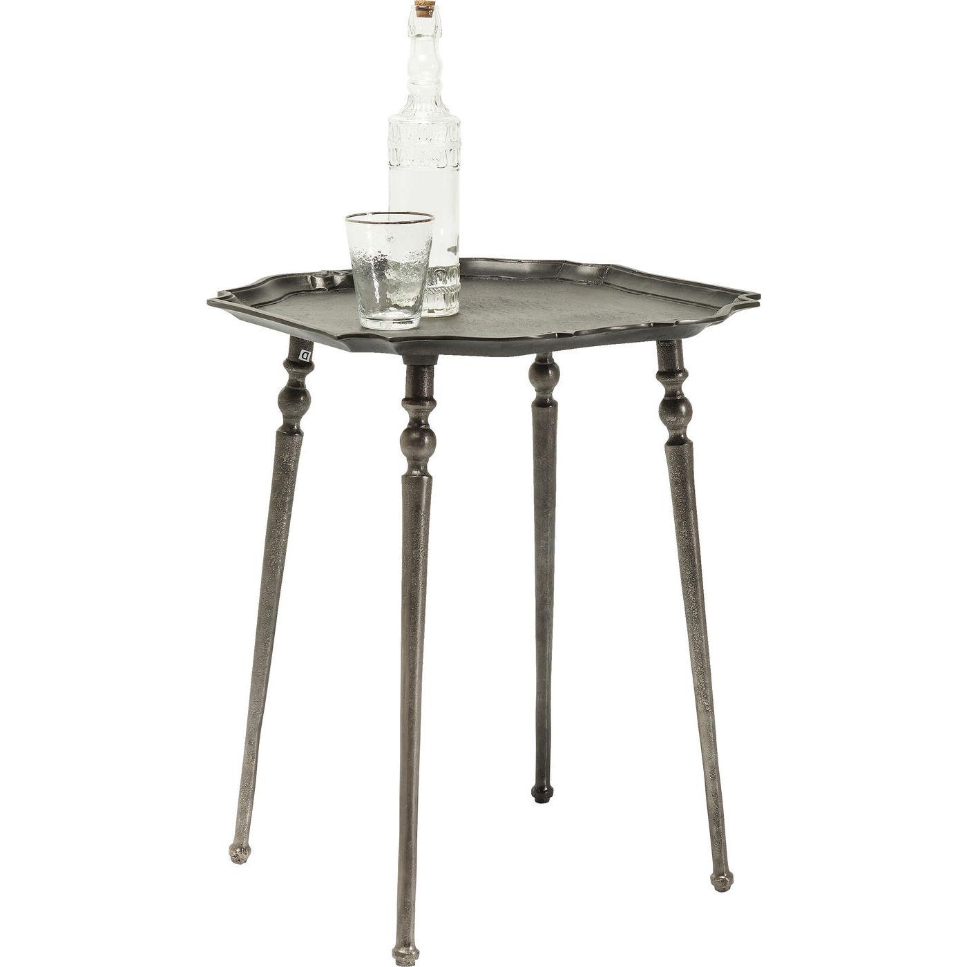Image of   KARE DESIGN Endris Dark Silver hjørnebord - mørk sølv (48x48)