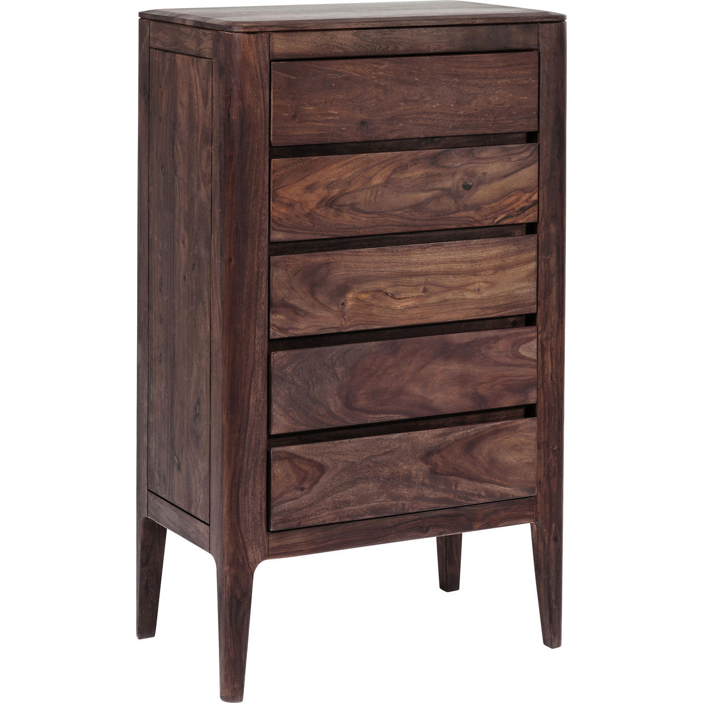 brooklyn walnut height kommode vandlakeret i valnddefarve. Black Bedroom Furniture Sets. Home Design Ideas