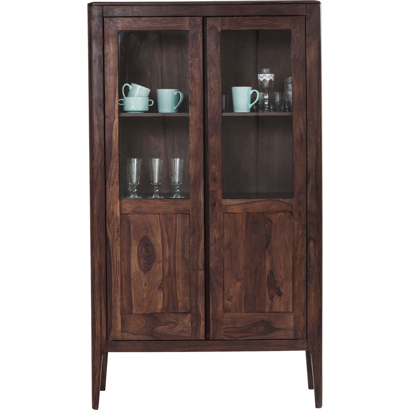 KARE DESIGN Brooklyn Walnut Display Vitrineskab