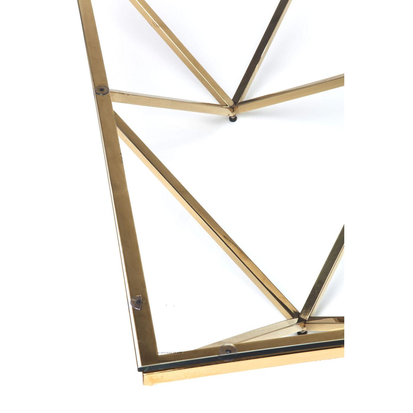 KARE DESIGN Network Gold sofabord - klart glas/guld stål (105x105)