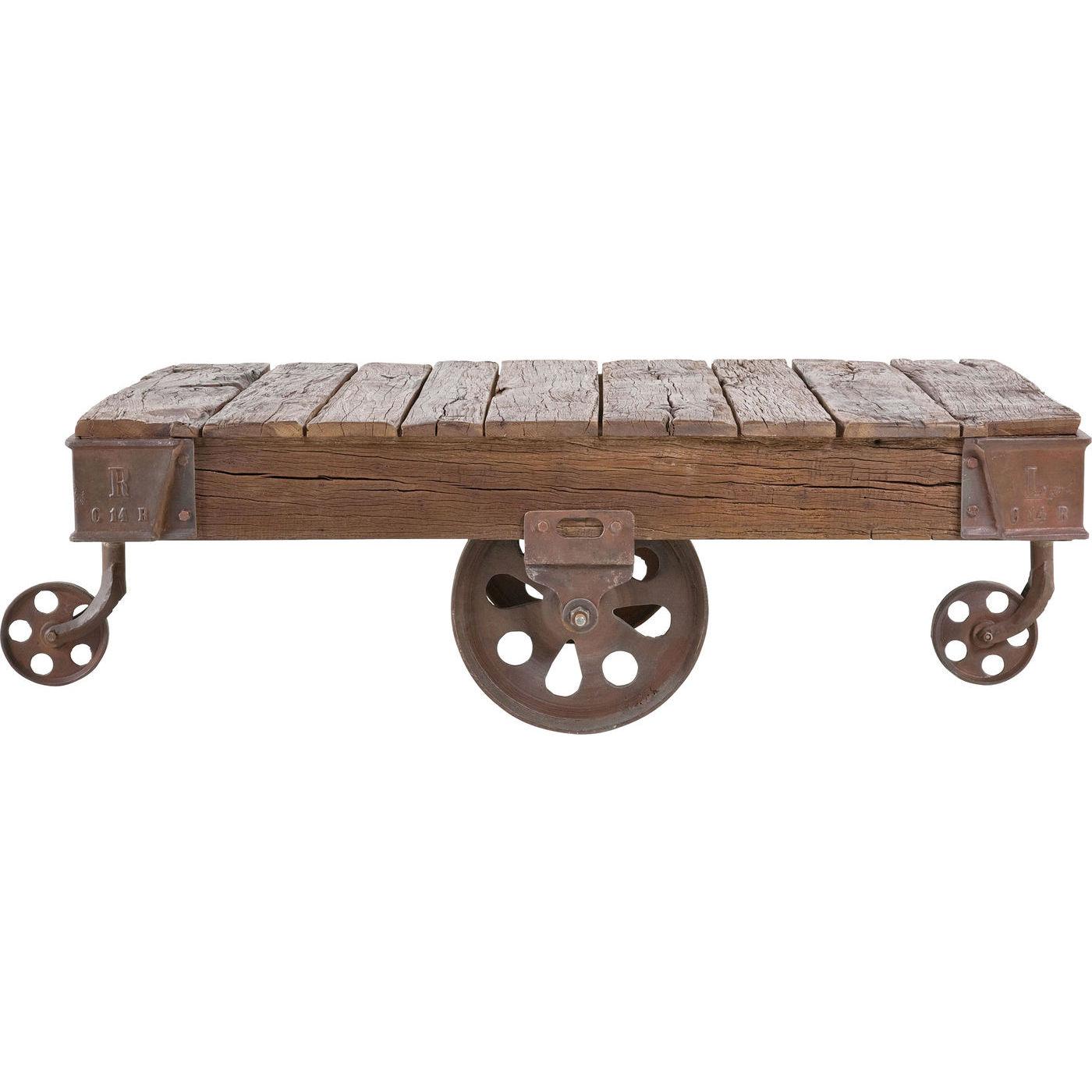 kare design – Kare design railway sofabord - natur genbrugstræ/støbt stål (135x80) på boboonline.dk