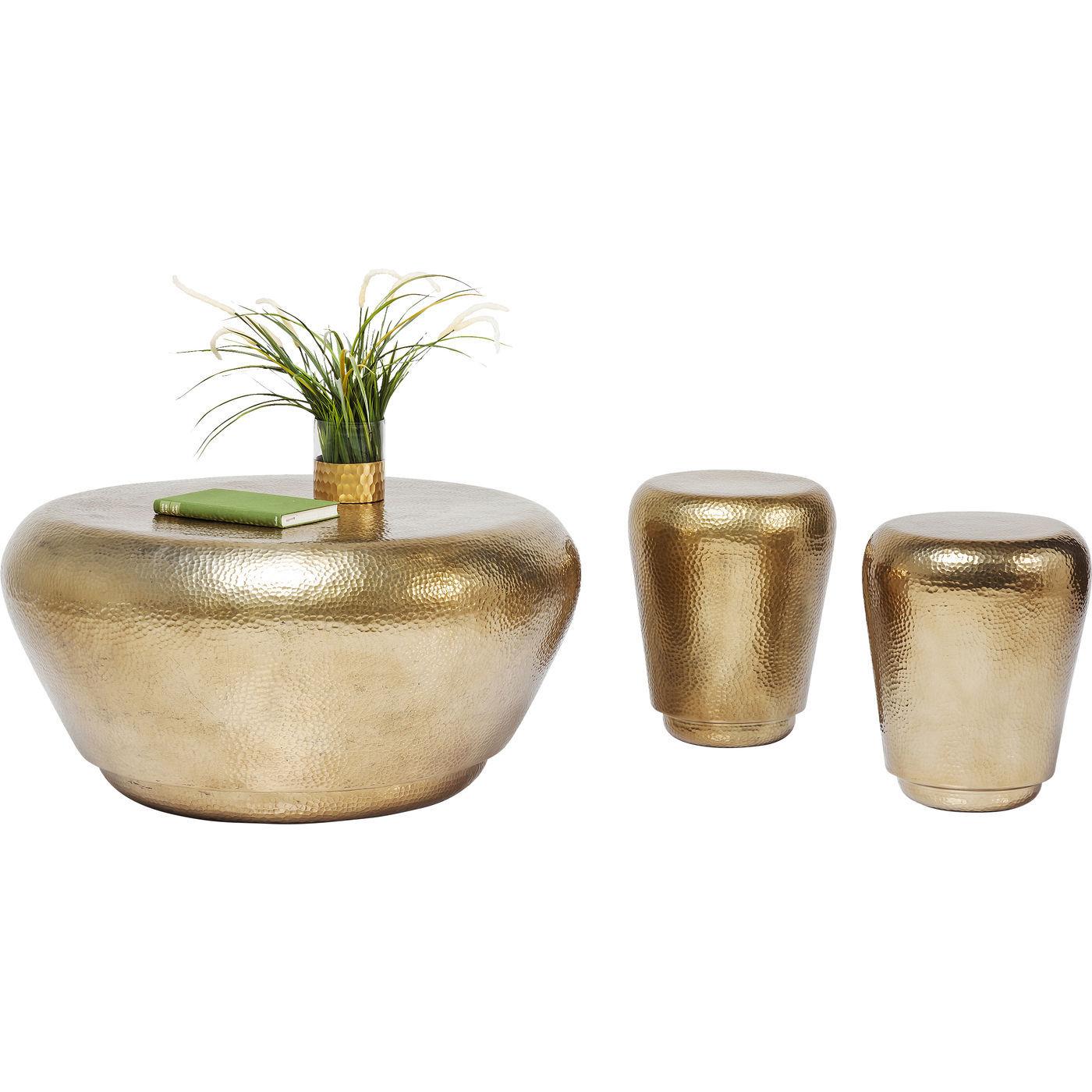 Billede af Kare Design Sofabord + Stool Antico Brass