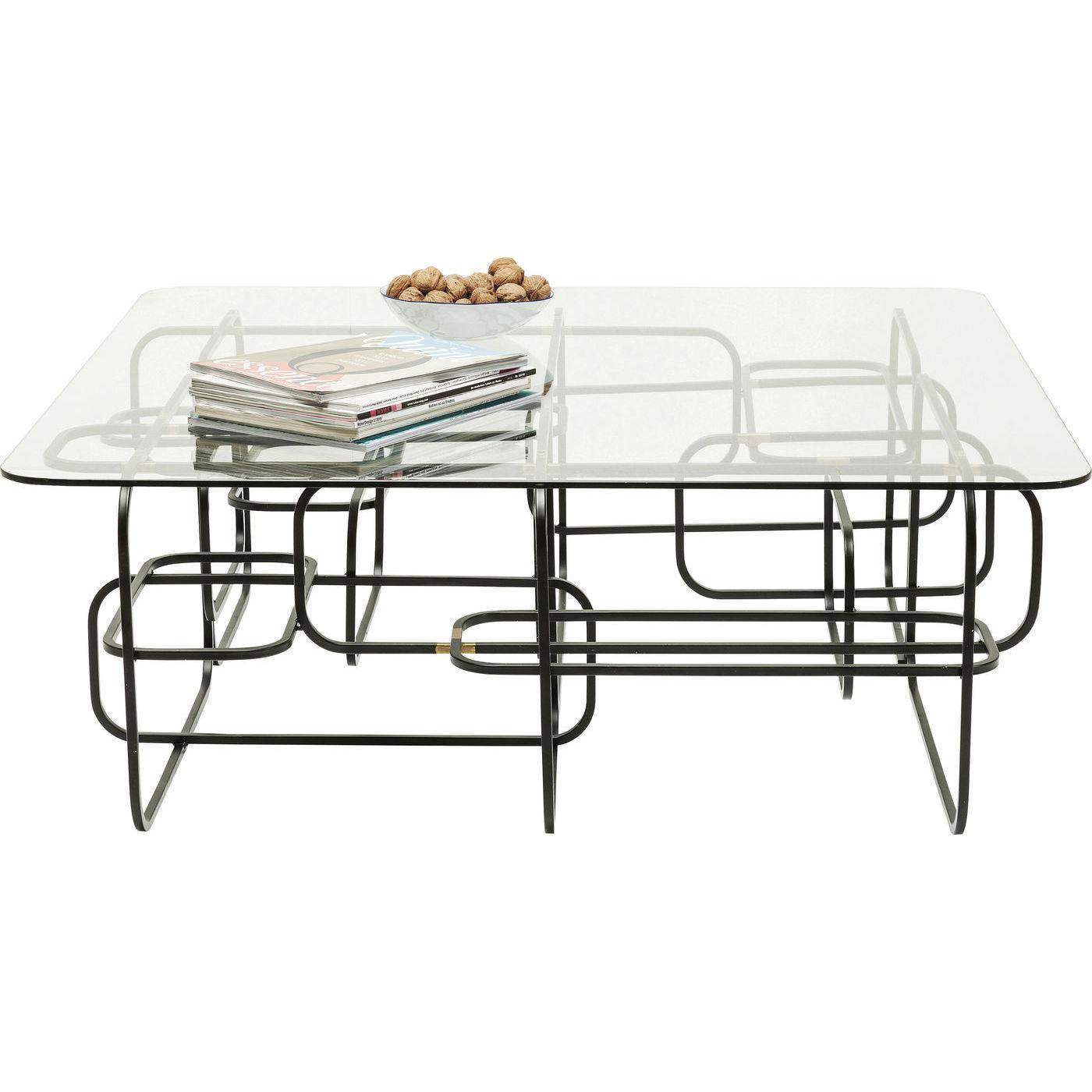 Kare design sofabord, meander black 100x100cm fra kare design fra boboonline.dk