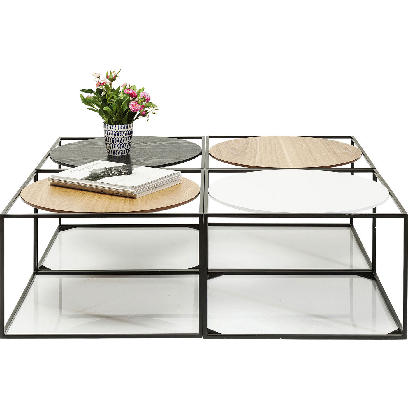 kare design – Kare design sofabord, quattro circles 100x100cm på boboonline.dk