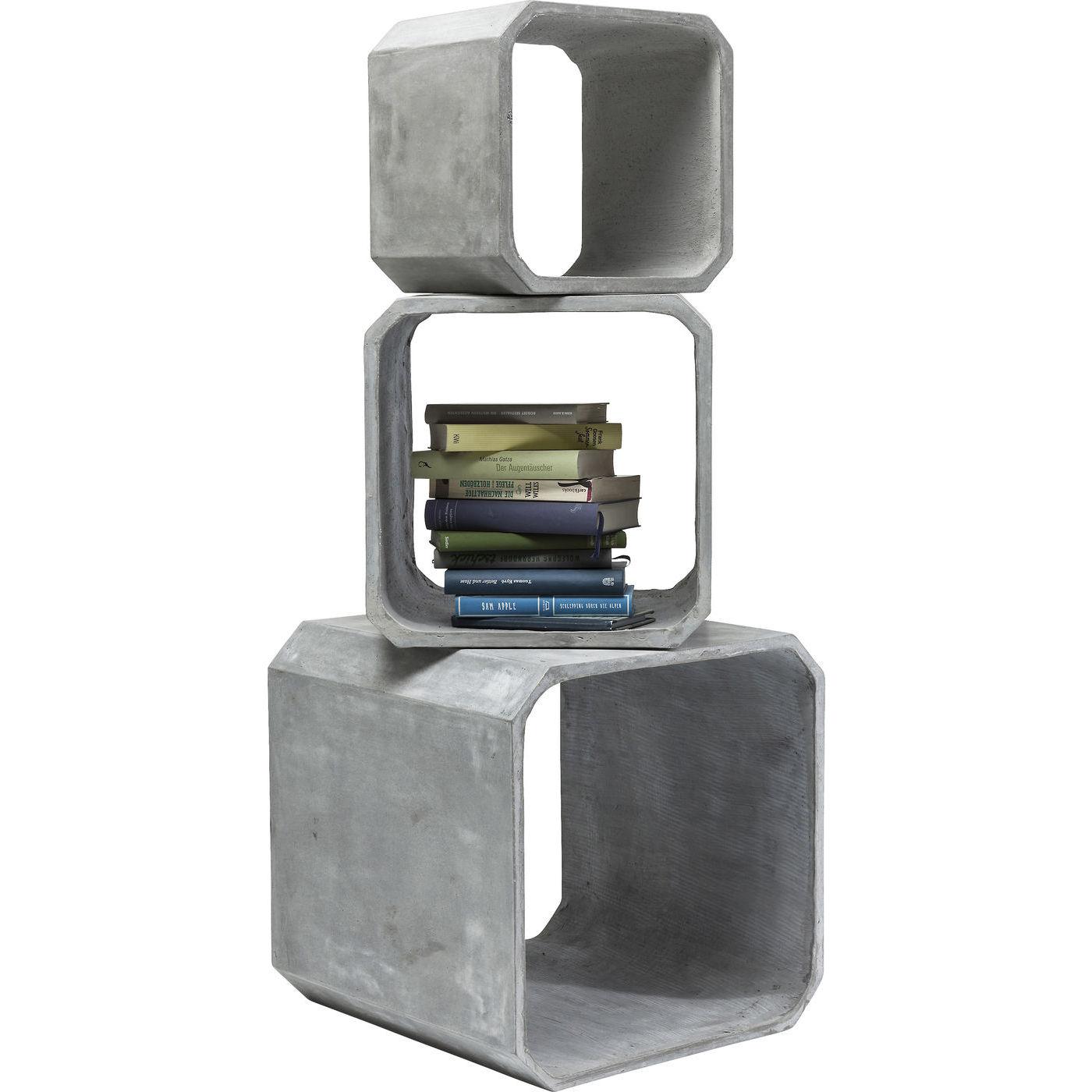 Image of   Kare Design Cube Square Concrete Reol