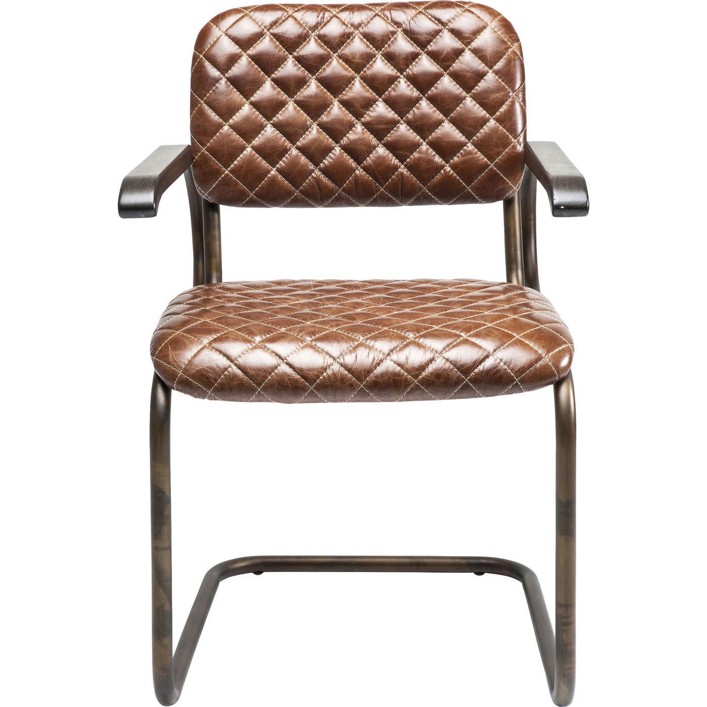 Billede af Kare Design Cantilever Spisebordsstol med armlæn, Stich Br