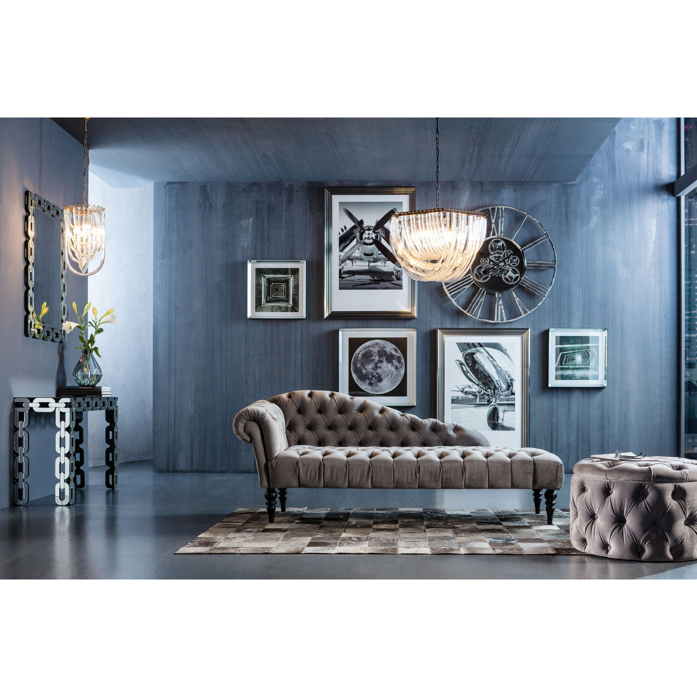 desire skammel med knapper i harlekinm nster opbevaring. Black Bedroom Furniture Sets. Home Design Ideas