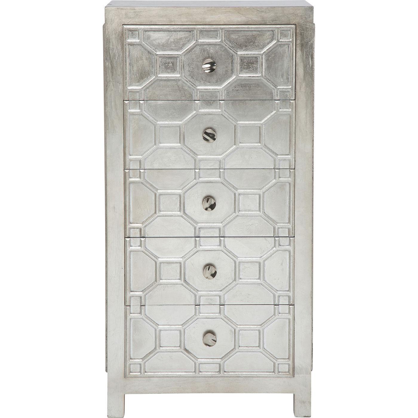 Kare design alhambra kommode - sølv, m. 5 skuffer fra kare design fra boboonline.dk