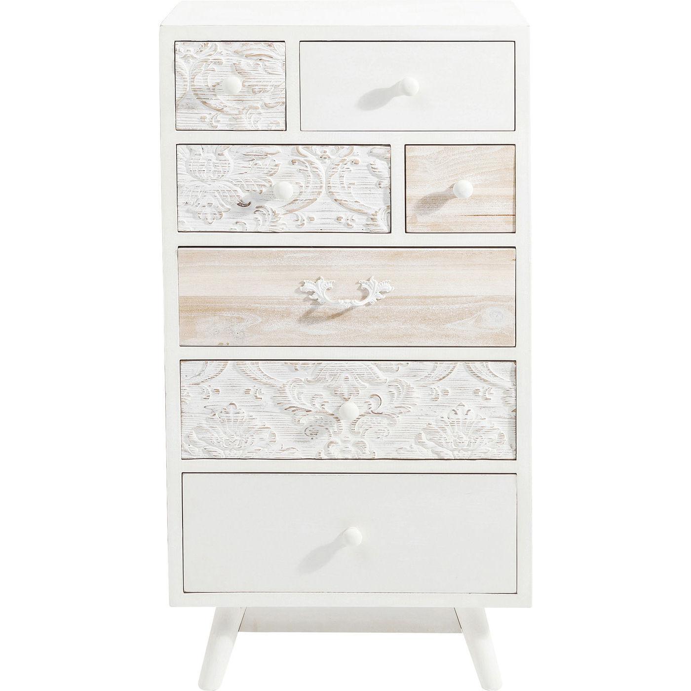 kommode sweet home romantisk med fine udsk ringer fin. Black Bedroom Furniture Sets. Home Design Ideas