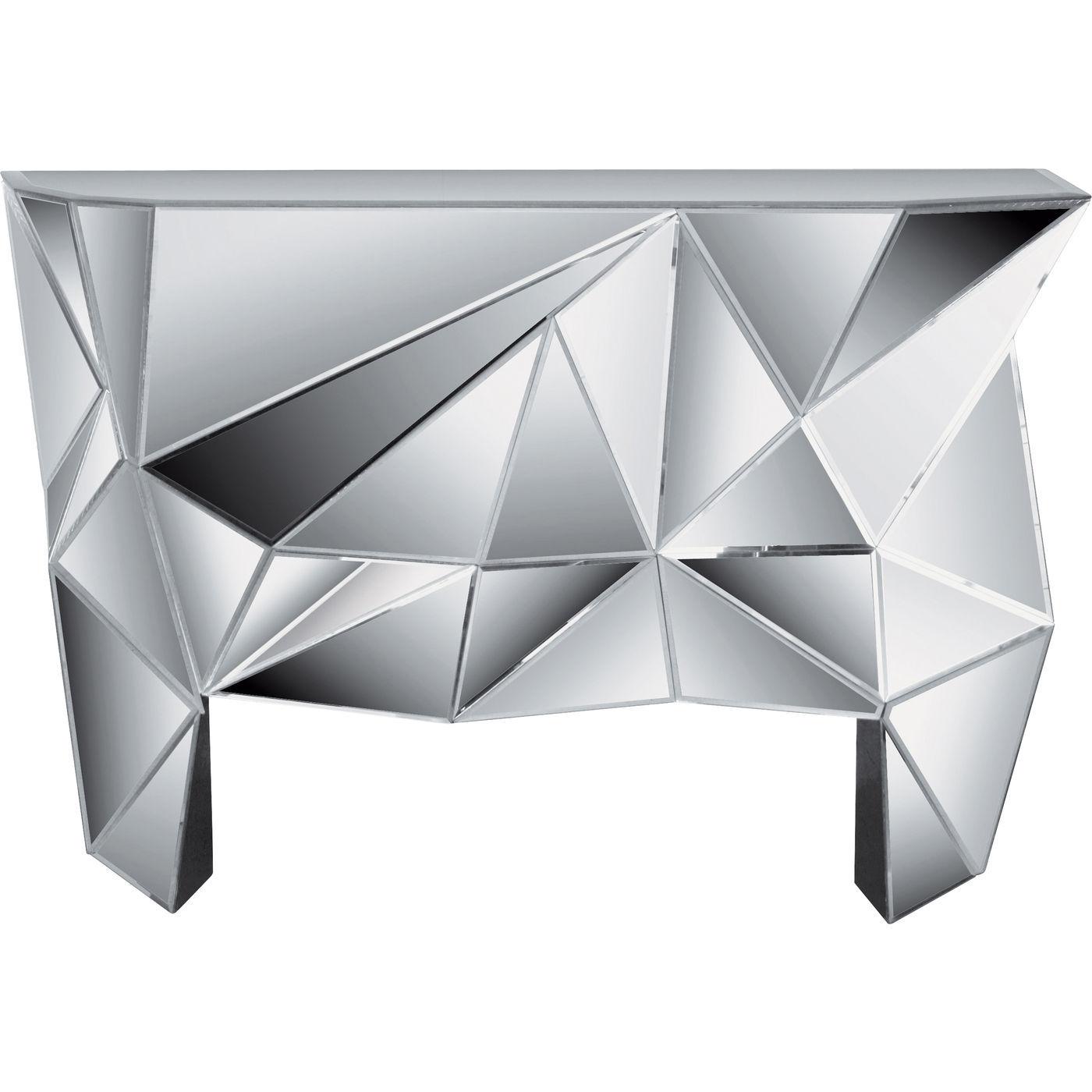 Image of   KARE DESIGN Prisma konsolbord - spejlglas, asymetrisk (126x38,5)