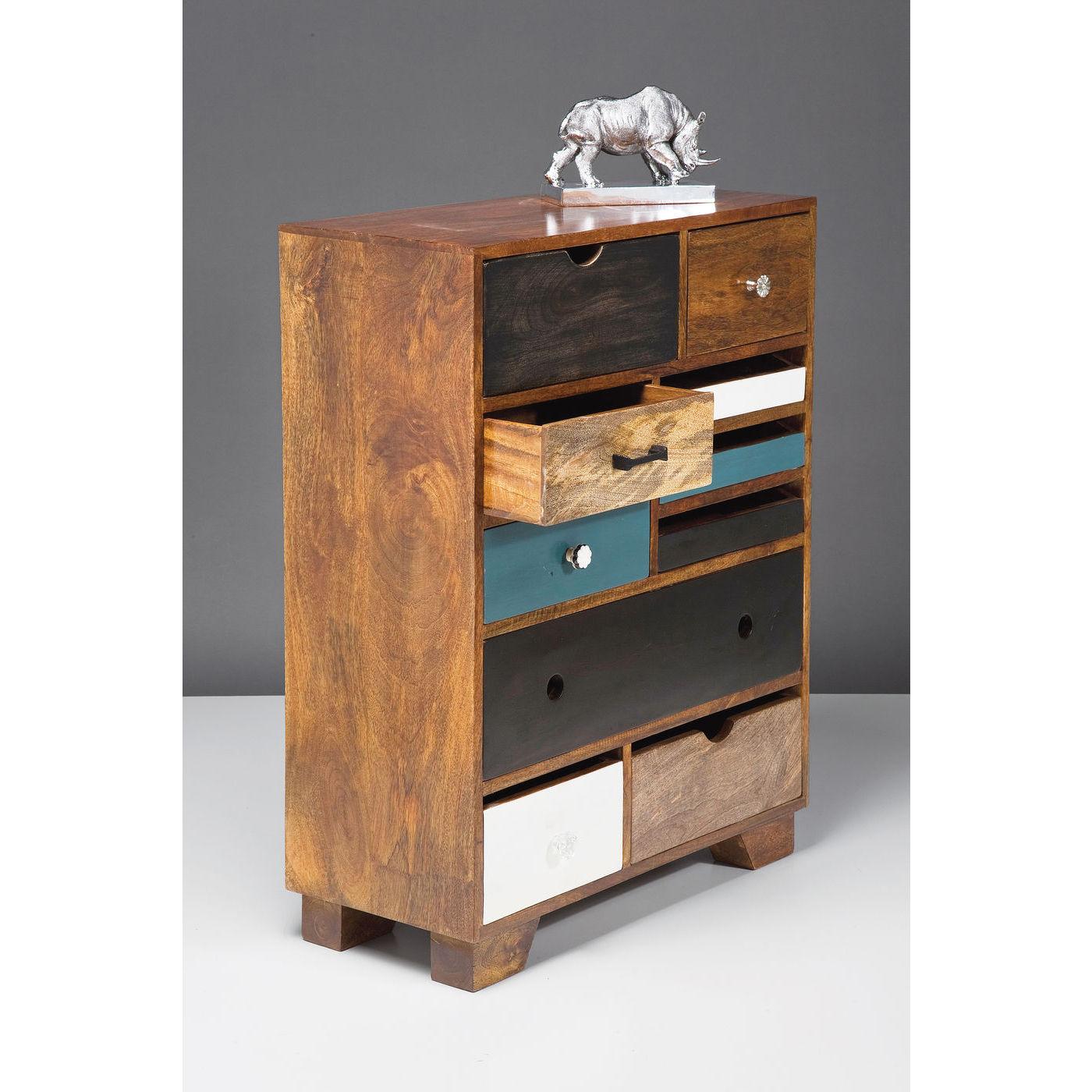 kommode i tr med 10 skuffer og enkle greb. Black Bedroom Furniture Sets. Home Design Ideas