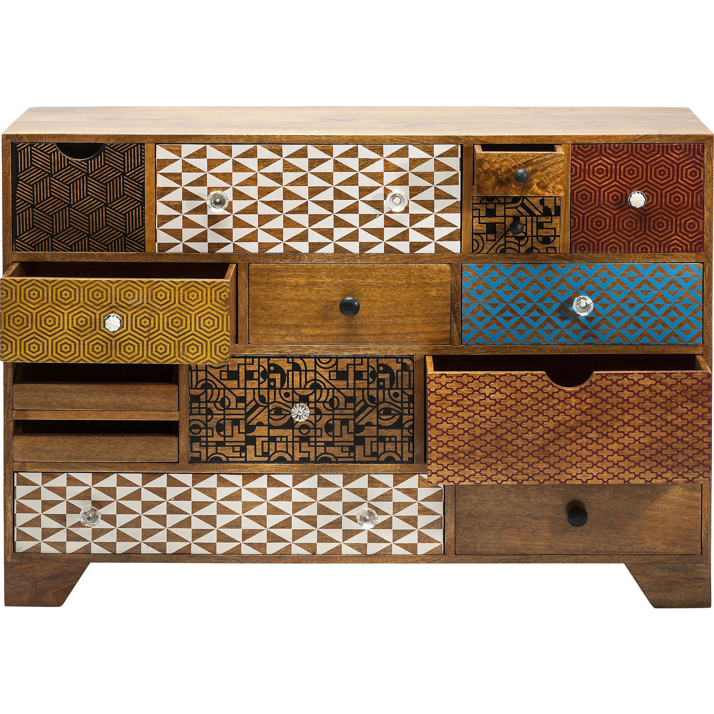 kommode soleil med skuffer og alverdens mnstre rustik. Black Bedroom Furniture Sets. Home Design Ideas