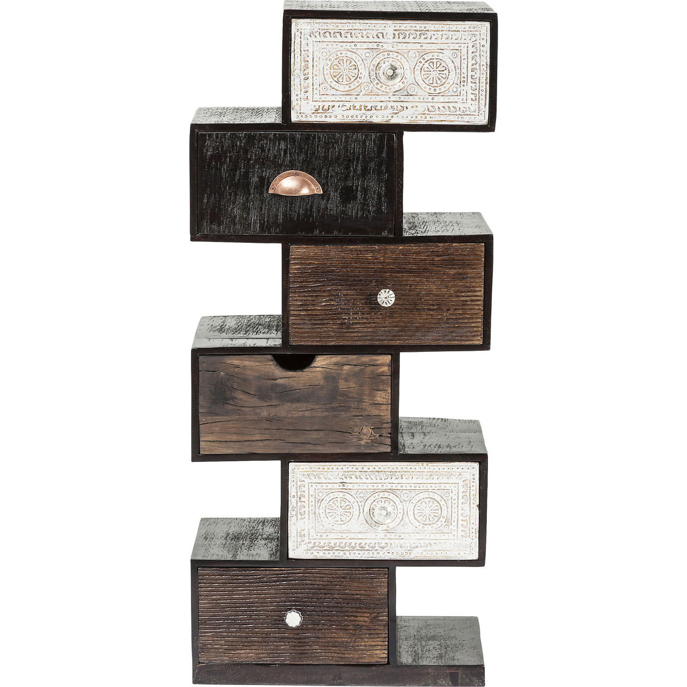 kommode zick zack finca med 6 skuffer og flotte mnstre. Black Bedroom Furniture Sets. Home Design Ideas