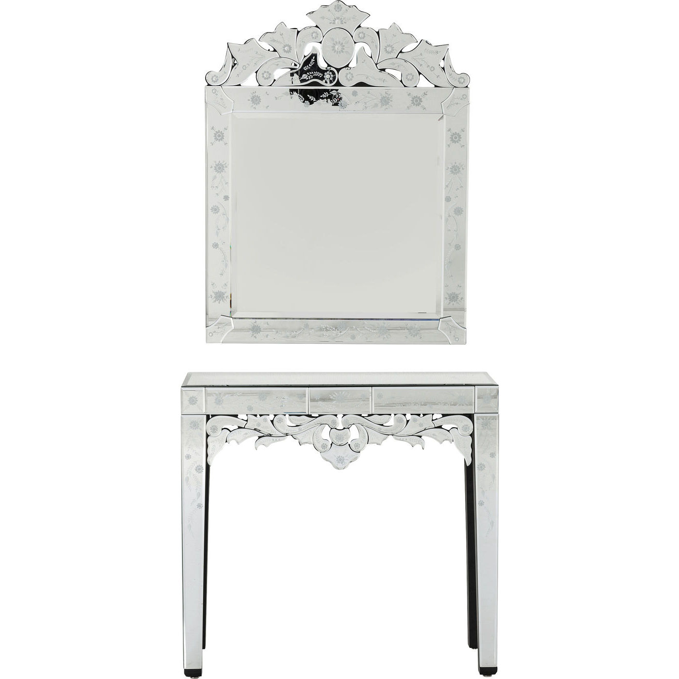 konsolbord mirror princess i spejlglas udsk ringer fint. Black Bedroom Furniture Sets. Home Design Ideas