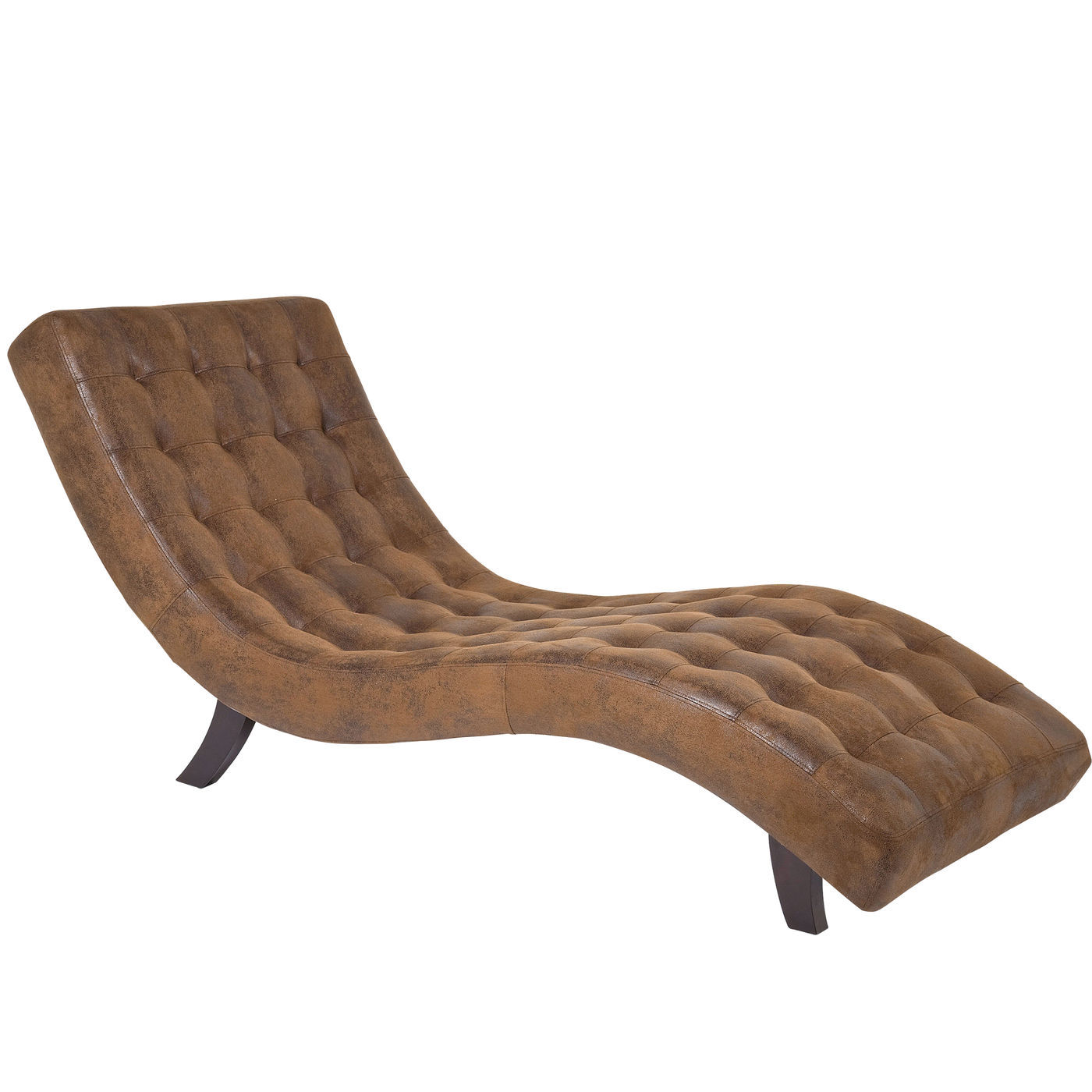 Image of   KARE DESIGN Snake Vintage Eco loungestol - brunt læderlook