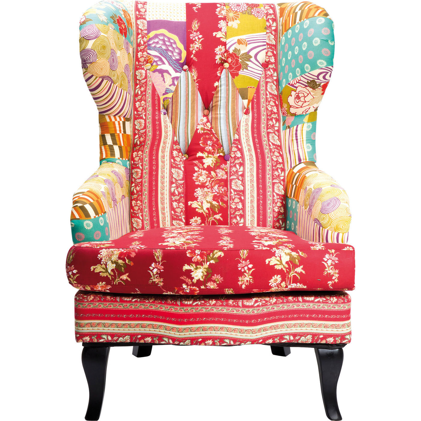 Billede af Kare Design Hvilestol, Patchwork Red
