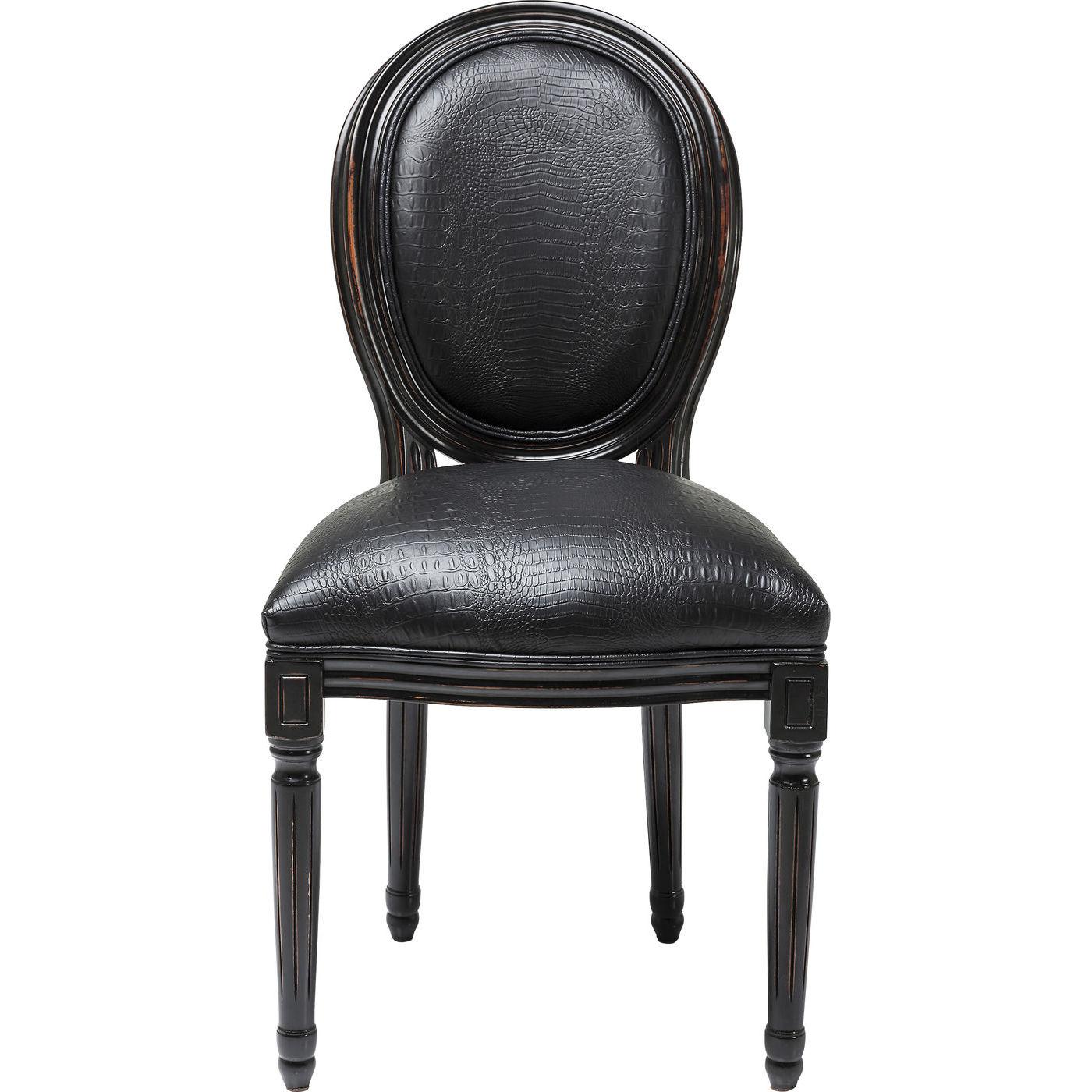 Kare design padded gastro louis black spisebordsstol - sort bøffellæder og træ fra kare design fra boboonline.dk