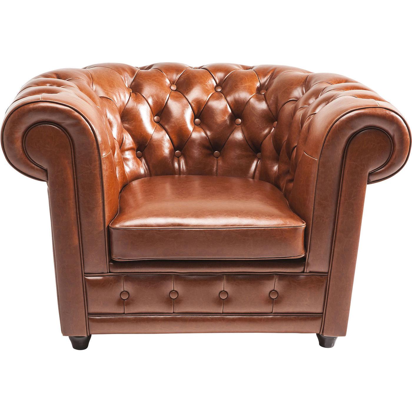 Billede af Kare Design Hvilestol m. Armlæn, Oxford bycast leather Cognac