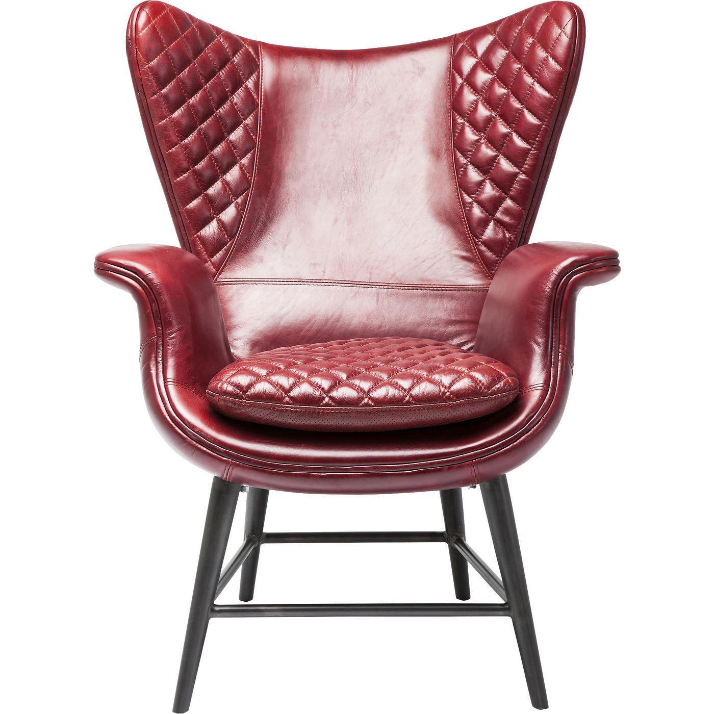 Billede af Kare Design Hvilestol m. Armlæn, Tudor Red Leather