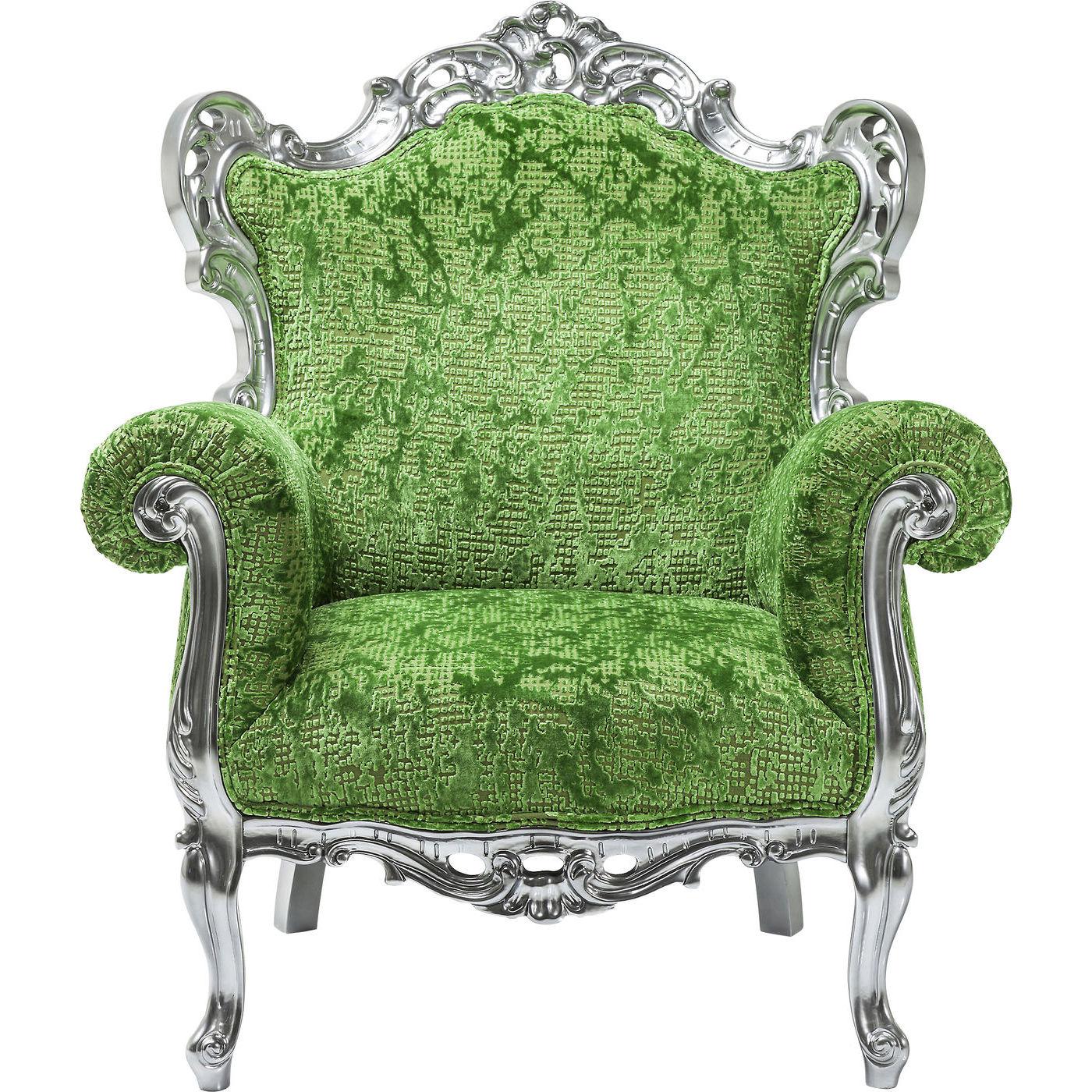 Billede af Kare Design Hvilestol m. Armlæn, Posh Silber Green