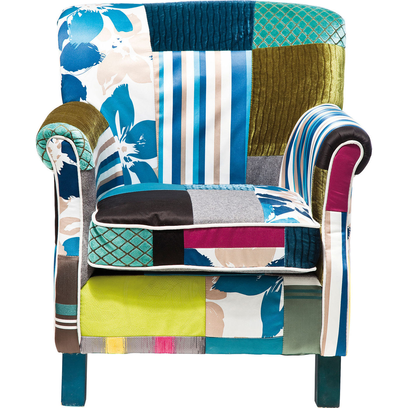 Image of   KARE DESIGN Hvilestol m. Armlæn, Patchwork Stripes
